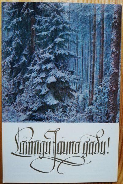 """Jaungada pastkarte """"Laimīgo Jauno gadu!"""" 9 * 14 cm 1978. gads. PSRS perioda suvenīrs."""
