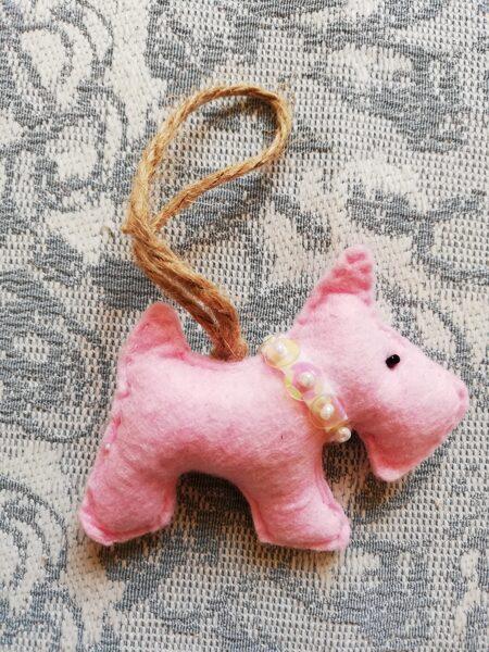 "Christmas tree toy ""Dog"" 8 cm."