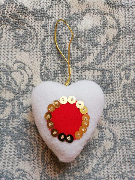 """Ziemassvētku eglīšu rotaļlieta """"Sarkans un balts"""" 7 cm."""