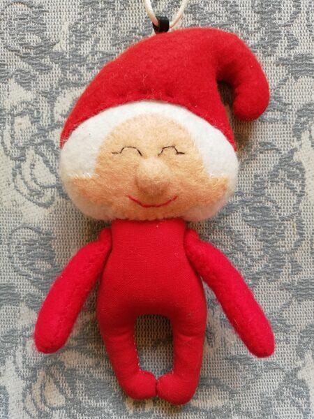 """Ziemassvētku eglītes rotaļlieta """"Ziemassvetku rūķis"""" 16 cm."""