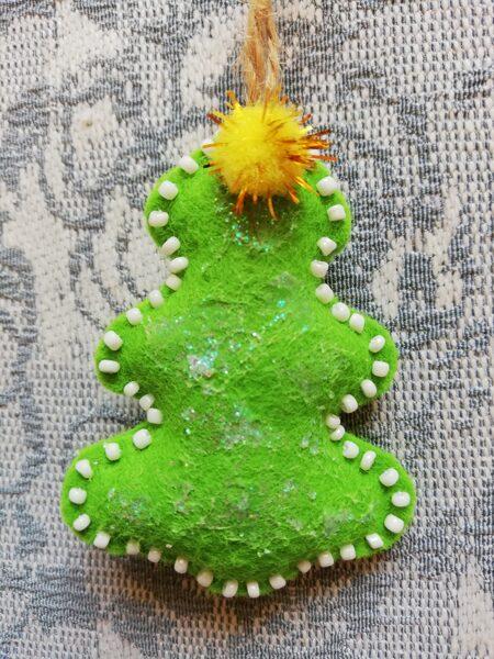 """Ziemassvētku eglītes rotaļlieta """"Ziemassvētku eglīte"""" 7 cm."""