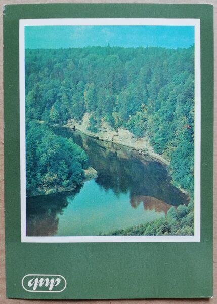 GNP Velnalas klintis Gauja 1981. gads Latvija foto 10,5x15 cm.