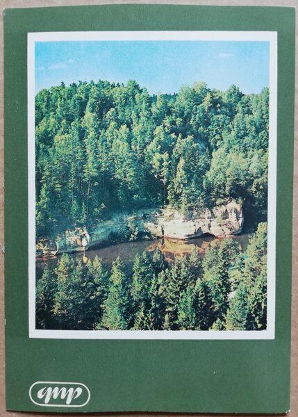 GNP Gūdu klintis Gauja 1981. gads Latvija foto 10,5x15 cm.