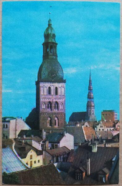 Latvijas PSR foto. Rīga. Vecrīgas panorāma. 1974. gads 9x14 cm.