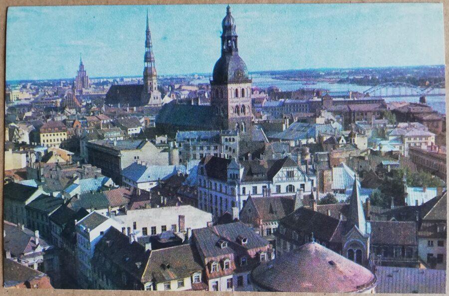 Latvijas PSR foto. Rīga. Rīgas panorāma. 1974. gads 14x9 cm.