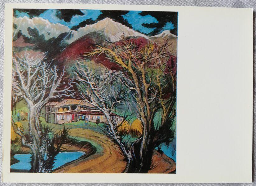 "Elena Akhvlediani 1976. gads ""Pasanauri; 1970"" mākslas pastkarte 15x10,5 cm"