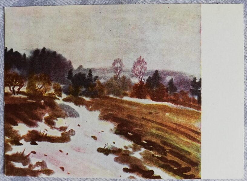 "Janis Brekte ""Spring"" 1968 art postcard 15x10.5 cm"