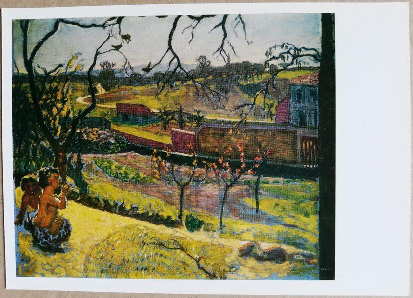 """Pjērs Bonards """"Pavasara sākums"""" (Mazie Fauni) 1977./1987. gada mākslas atklātne 15x10,5 cm"""