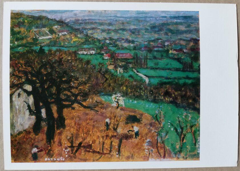 """Pjērs Bonards """"Ainava pie Daufina"""" 1977. gada mākslas pastkarte 15x10,5 cm"""