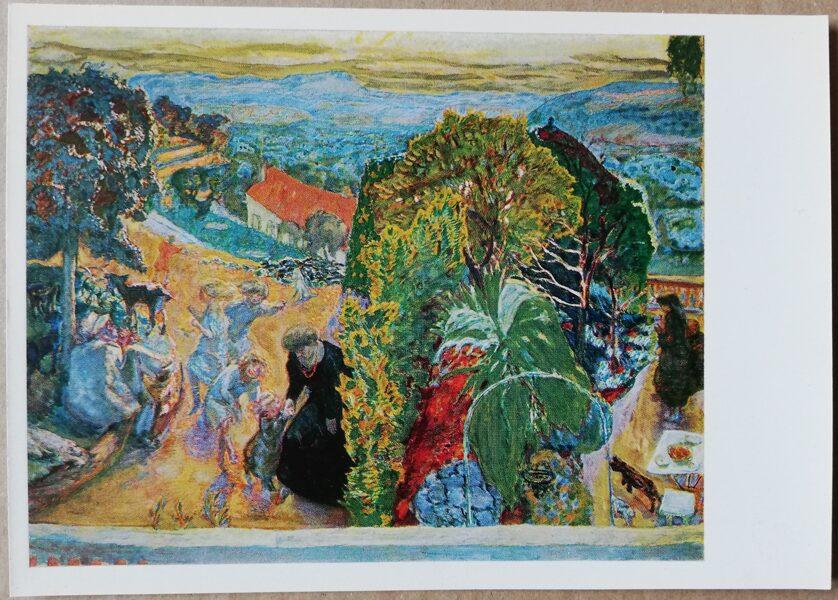 """Pjērs Bonards """"Agrs pavasaris laukos"""" 1977. gada mākslas pastkarte 15x10,5 cm"""