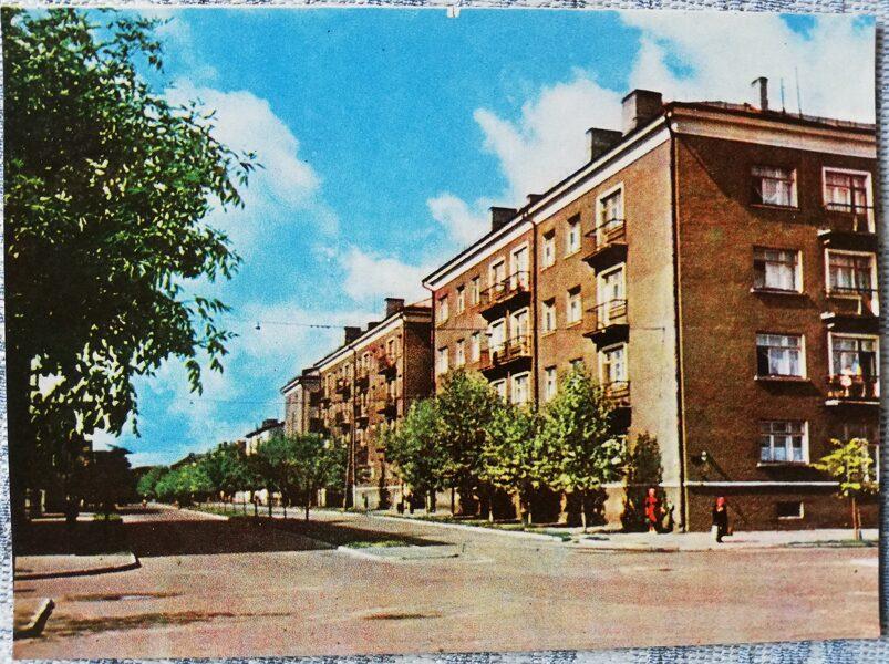 Daugavpils 1966 Kārļa Marksa ielas un Viestura ielas stūris 14x10 cm Pastkarte