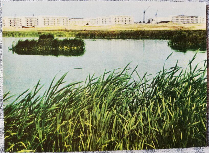 Daugavpils 1966. gada strādnieku pilsētiņa 14x10 cm pastkarte
