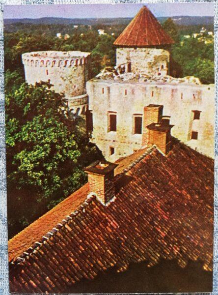 Cesis 1965 Castle ruins 10x14 cm postcard
