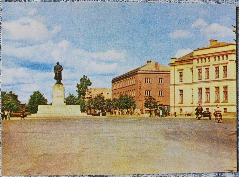 Cesis 1965 Monument to Lenin 14x10 cm postcard