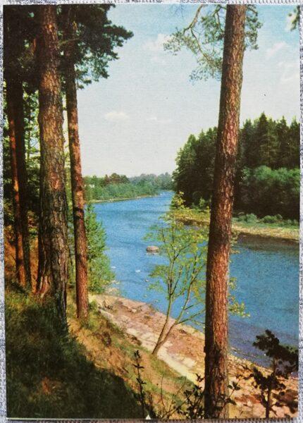 Ogre 1966 View of the Ogre river 10x14 cm postcard