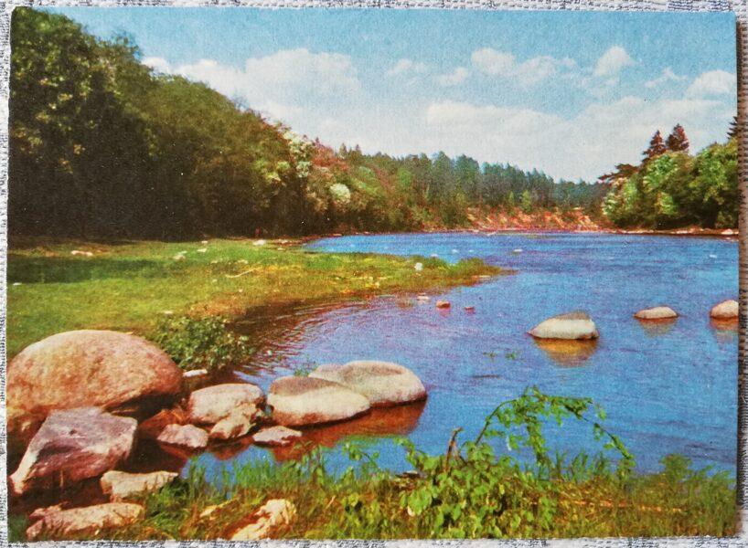 Ogre 1966 View of the Ogre River 14x10 cm postcard