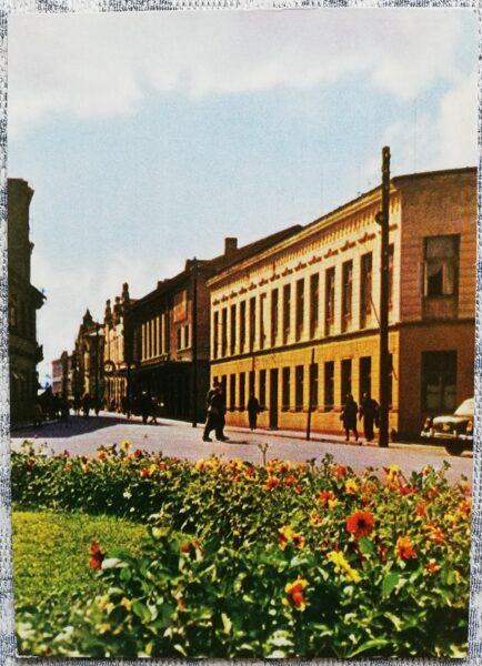 Ventspils 1965 Fabricius street 10x14 cm postcard