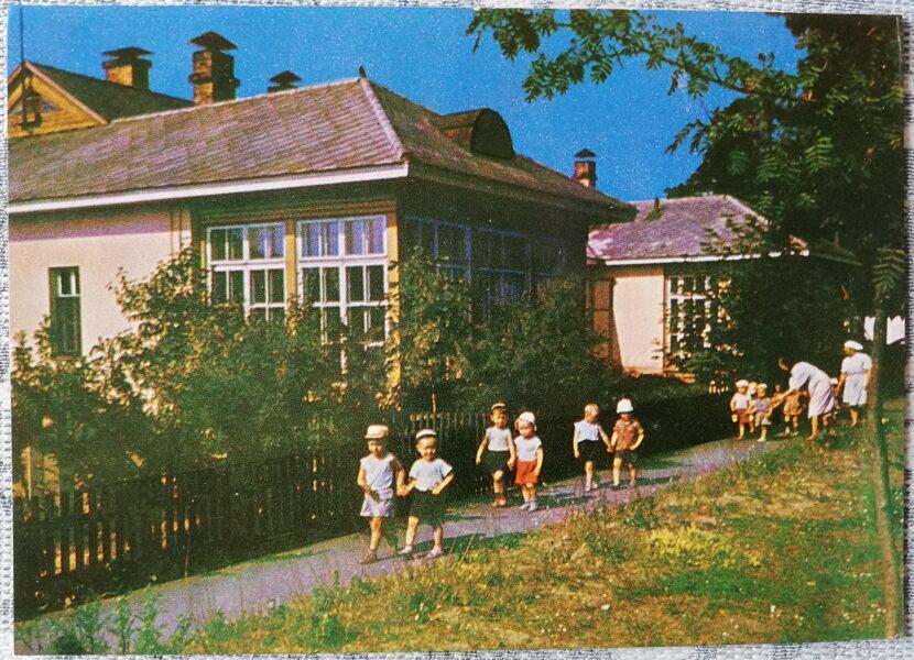 Ventspils 1965 Kindergarten of port workers 14x10 cm postcard