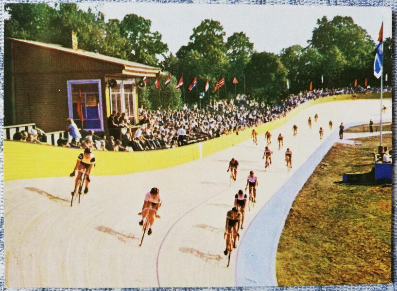 Ventspils 1965 Cycling track 14x10 cm postcard