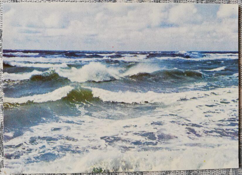 Ventspils 1965 Baltic Sea near Ventspils 14x10 cm postcard