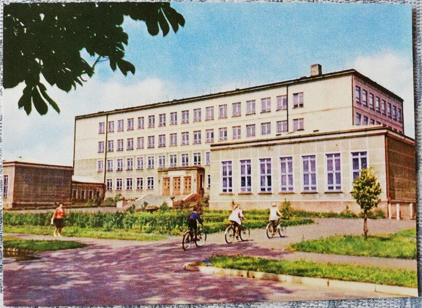 Ventspils 1965 Secondary School No. 3 14x10 cm postcard