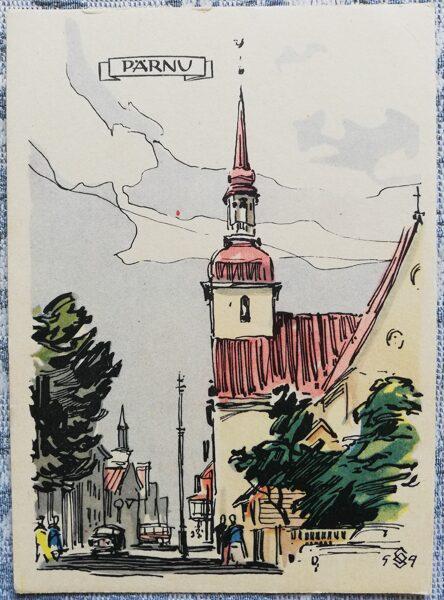 Postcard 1960 Elizabethan Church Estonia, Parnu 10.5x15 cm