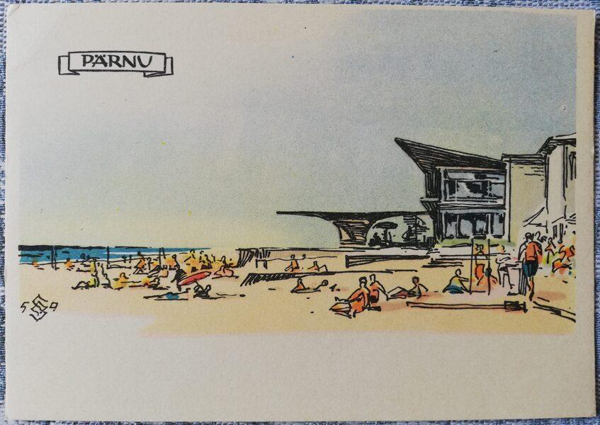 Postcard 1960 Parnu seaside Estonia, Parnu 15x10.5 cm