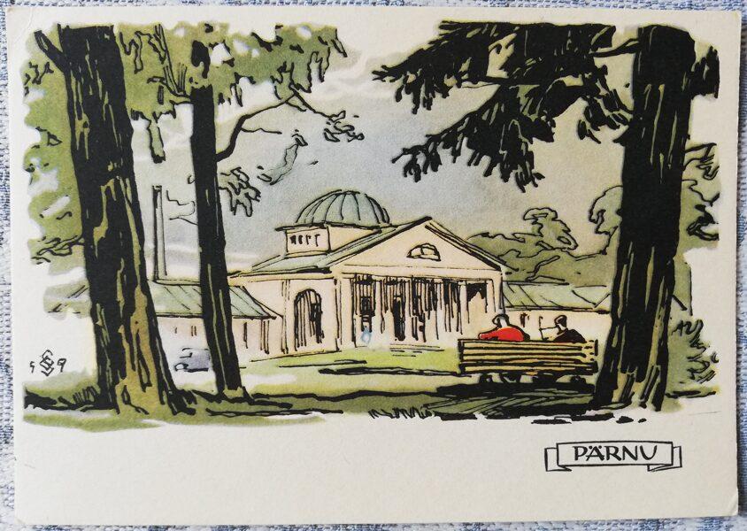 Postcard 1960 Mud baths Estonia, Parnu 15x10.5 cm