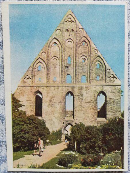 Pastkarte no 1955. gada Piritas (Sv. Brigitas) klostera drupas Igaunija, Tallina 10,5x14 cm