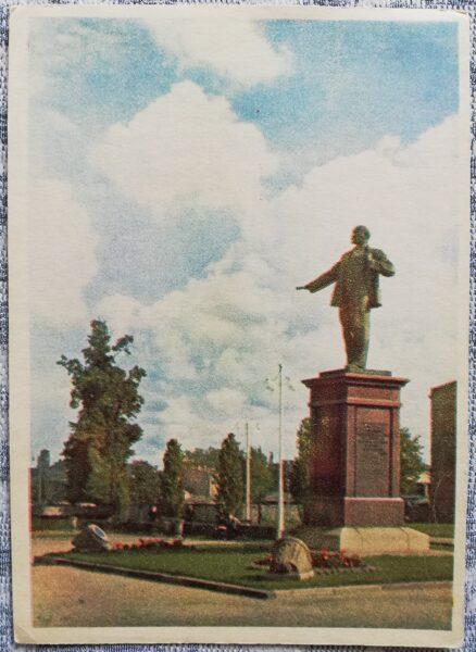 Pastkarte 1955. gada Ļeņina piemineklis Igaunija, Tallina 10,5x14 cm