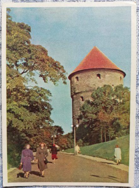 """Pastkarte 1955. gads Vecais cietokšņa tornis """"Kiek in de Kök"""" Igaunija, Tallina 10,5x14 cm"""
