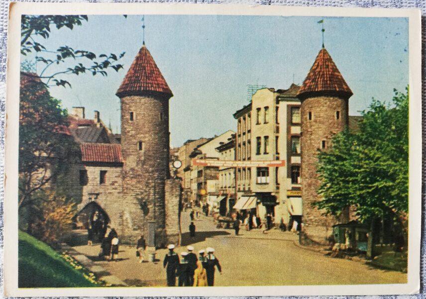 Pastkarte 1955 Viru iela Igaunija, Tallina 14x10,5 cm