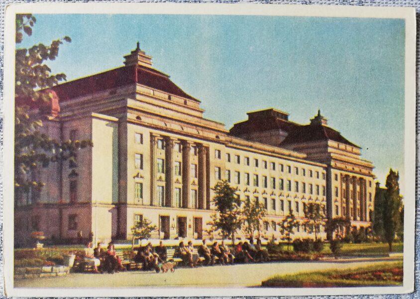 Pastkarte 1955. gada Igaunijas Valsts operas un baleta teātra, Tallina 14x10,5 cm