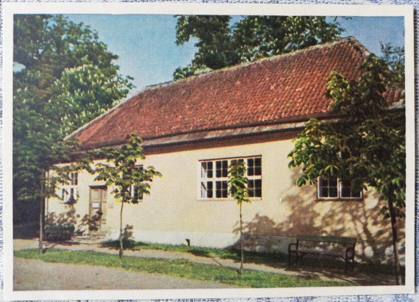 Pastkarte 1955. gads Pētera Lielā mājas Kadriorgas parkā Igaunijā, Tallinā 14x10,5 cm