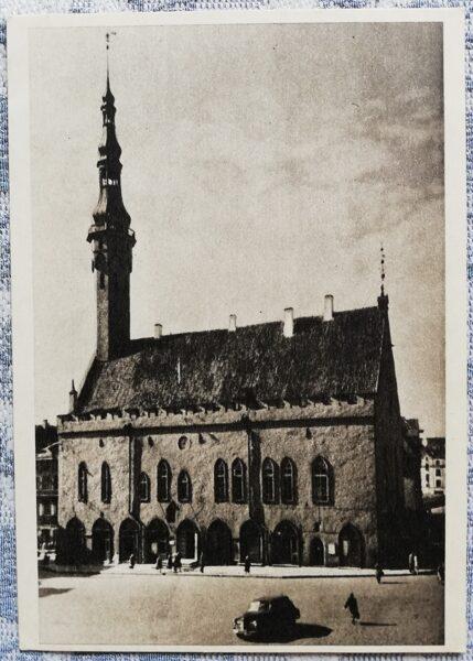 Pastkarte 1955. gada Igaunijas rātsnams, Tallina 10,5x14 cm
