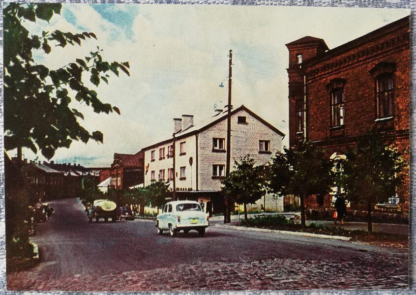 Rezekne 1965 17 June Street 14x10 cm postcard