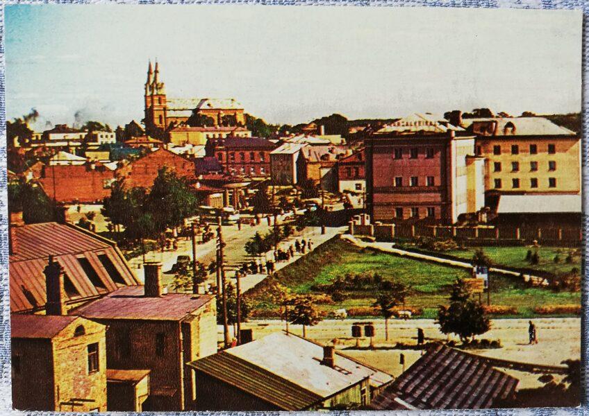 Rezekne 1965 View of the town Rezekne 14x10 cm postcard