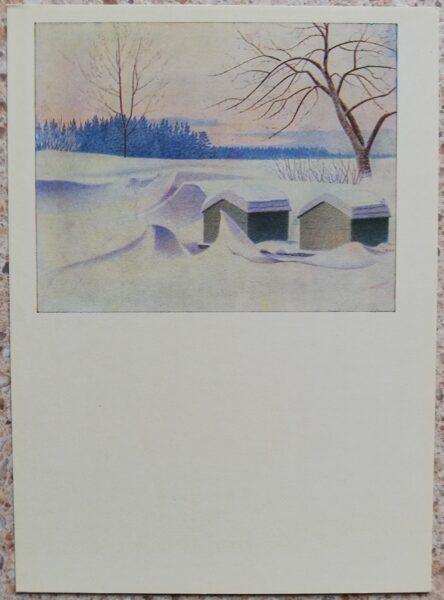 Lidija Meškaitīte 1969. Bites guļ 10,5x14,5 cm mākslas pastkarte