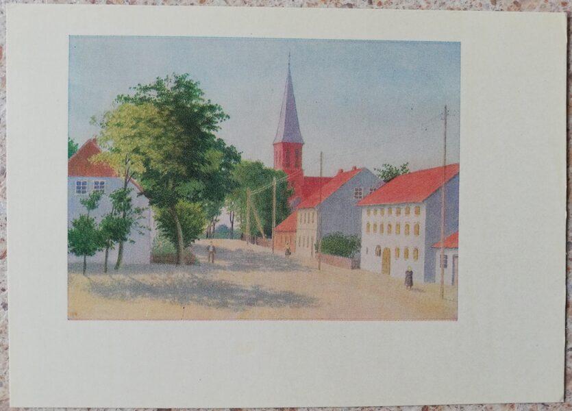 Lidija Meškaitīte 1969 Vilkiškai Lietuva 14,5x10,5 cm mākslas pastkarte