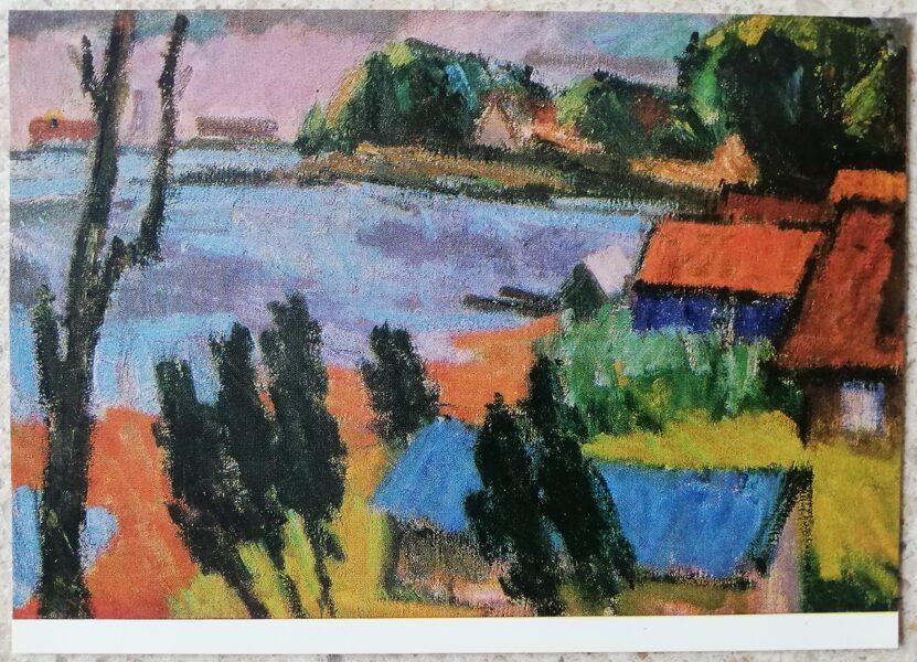 Antanas Gudaitis 1972 Nida Lithuania 15x10.5 cm art postcard