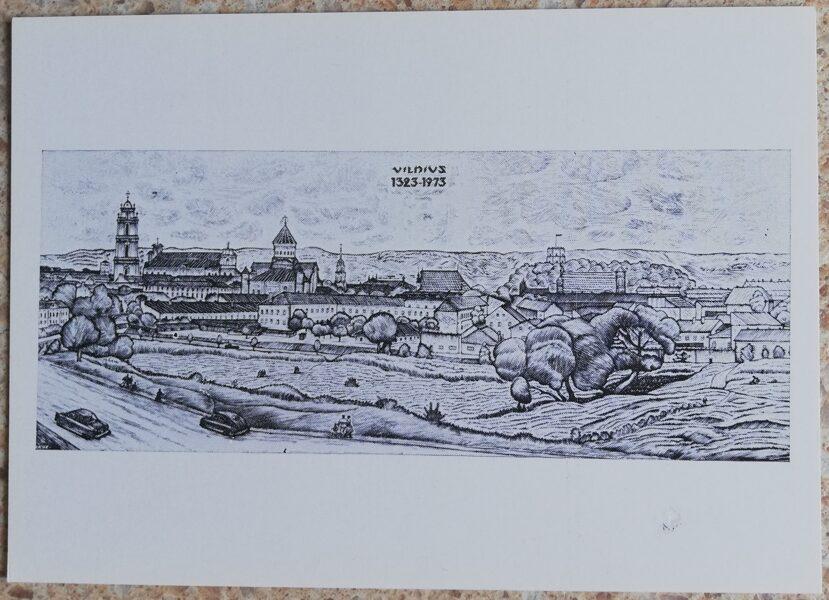 Jonas Kuzminskis 1976 Viļņa 15x10,5 mākslas pastkarte