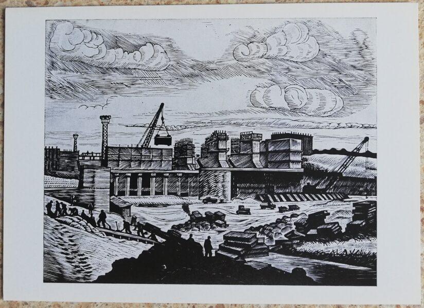 Jonas Kuzminskis 1976. gada Kauņas HES 15x10,5 mākslas pastkarte