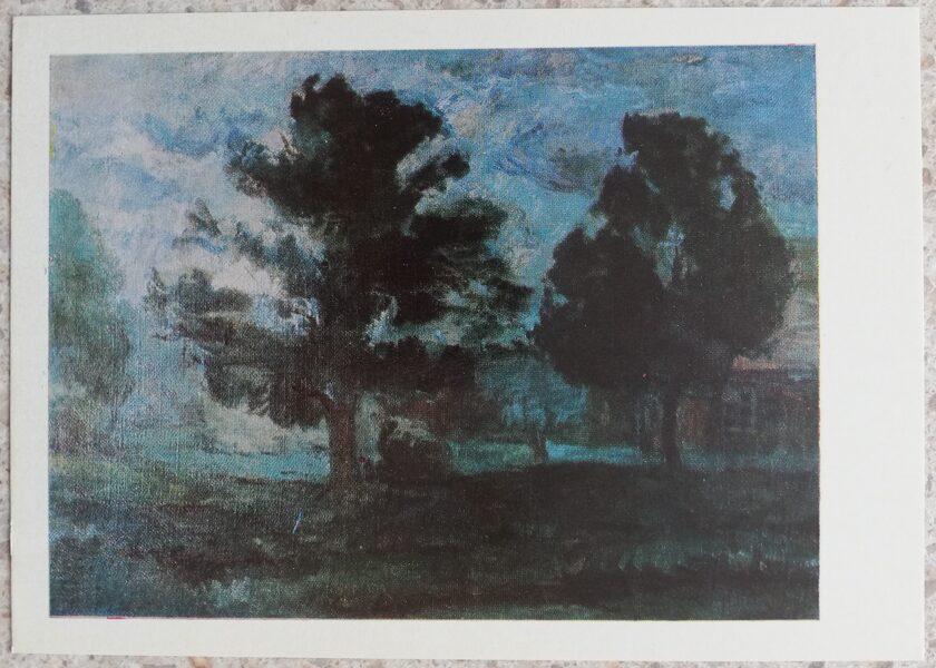 Algirdas Petrulis 1972 Oak 15x10.5 art postcard