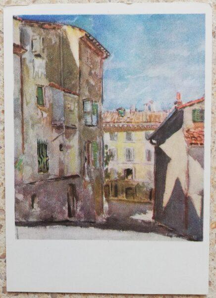 Kajetonas Sclerius 1964 Francijas pilsētā 10,5x15 mākslas pastkarte