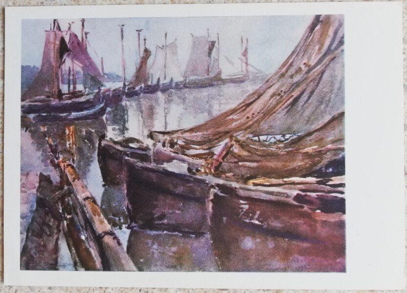 Kajetonas Sklerius 1964 Nidā 15x10,5 mākslas pastkarte