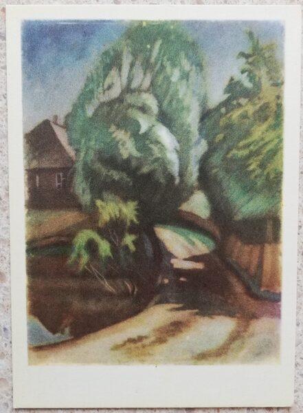 Justinas Venozhinskis 1966 Native estate 10,5x15 art postcard
