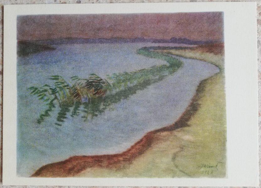 Justinas Venozhinskis 1966 Rainy day 15x10,5 art postcard