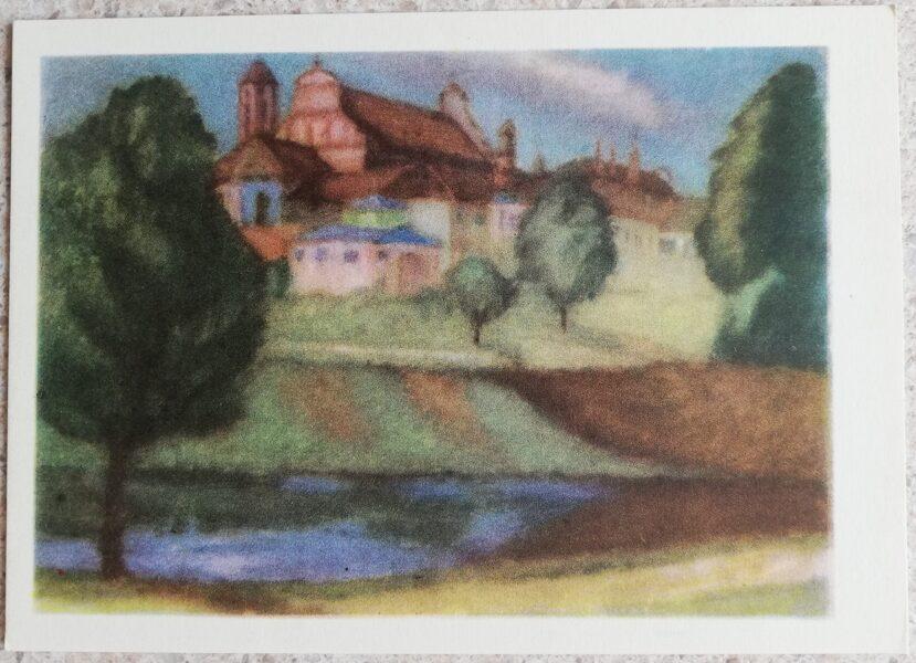 Justinas Venozhinskis 1966 Art Institute in Vilnius 15x10.5 art postcard
