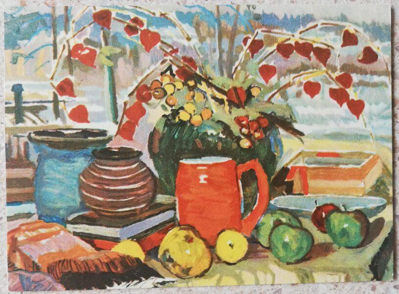 Alberts Vutsans 1968 Still life 14x10 cm art postcard