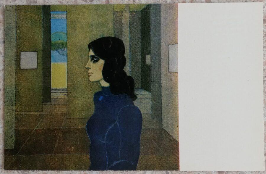 Edgars Iltners 1977 Ērika 14x9 cm mākslas pastkarte